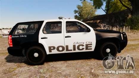 Chevrolet Tahoe 2008 LCPD [ELS] für GTA 4 linke Ansicht