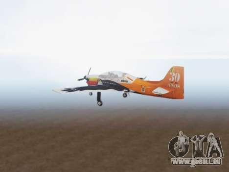 Embraer T-27 Tucano 30 Anos für GTA San Andreas rechten Ansicht