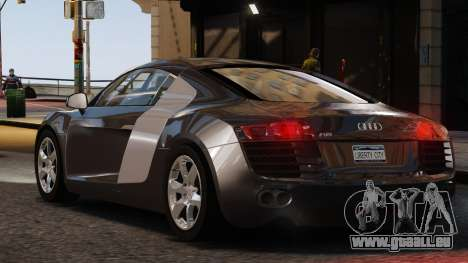 Audi R8 v1.1 pour GTA 4 Vue arrière de la gauche