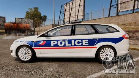Ford Mondeo IV Wagon Police Nationale [ELS] für GTA 4 linke Ansicht