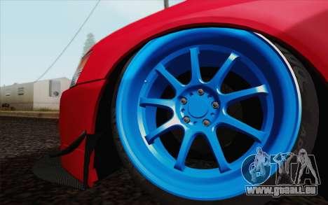Mitsubishi Lancer MR Edition pour GTA San Andreas vue de droite