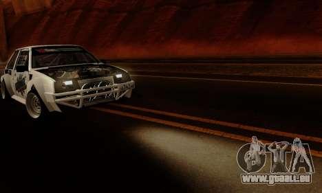 VAZ 2108 RDA pour GTA San Andreas vue intérieure