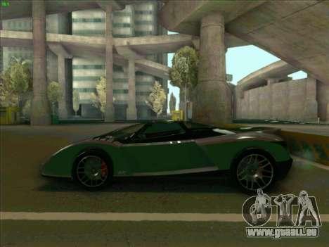 Cheetah Grotti GTA V pour GTA San Andreas laissé vue
