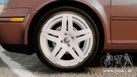 Volkswagen Bora 1.8T Camel pour GTA 4 Vue arrière