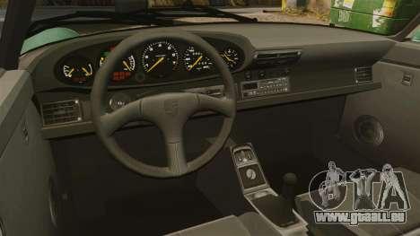 Porsche 911 Speedster pour GTA 4 est une vue de l'intérieur