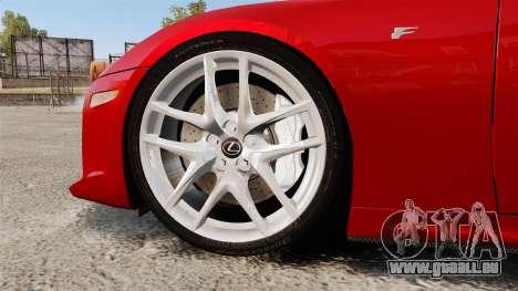 Lexus LF-A 2010 v2.0 [EPM] Final Version pour GTA 4 Vue arrière