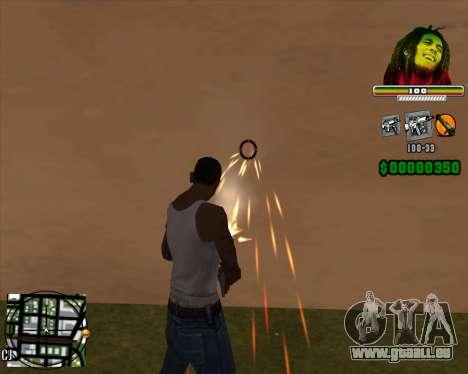 C-HUD Bob Marley pour GTA San Andreas deuxième écran