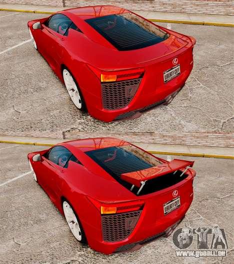 Lexus LF-A 2010 v2.0 [EPM] Final Version pour GTA 4 est un côté
