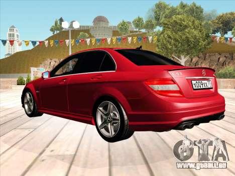 Mercedes-Benz C63 AMG HQLM pour GTA San Andreas laissé vue