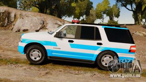 Ford Expedition Japanese Police SSV v2.5F [ELS] pour GTA 4 est une gauche
