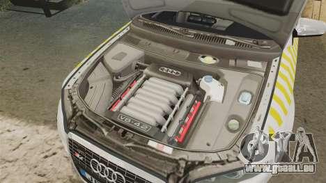 Audi S4 Avant Hungarian Police [ELS] pour GTA 4 est une vue de l'intérieur