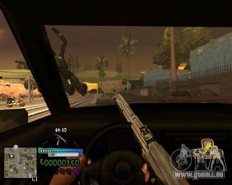 Vue à partir de la première personne pour GTA San Andreas troisième écran