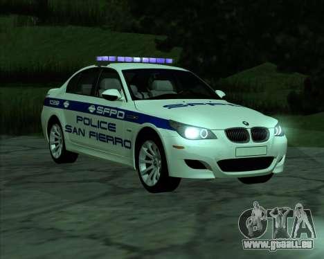 BMW M5 E60 Police SF pour GTA San Andreas