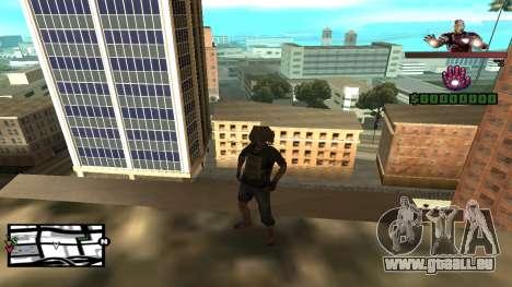 C-HUD Iron Man pour GTA San Andreas deuxième écran