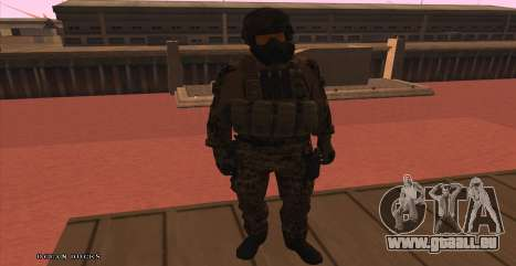 Global Defense Initiative Soldier für GTA San Andreas her Screenshot