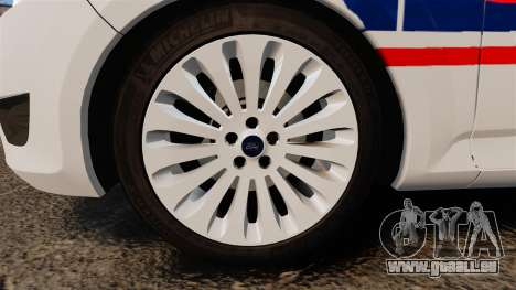 Ford Mondeo IV Wagon Police Nationale [ELS] pour GTA 4 Vue arrière