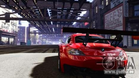 BMW Z4 GT3 2012 für GTA 4 hinten links Ansicht