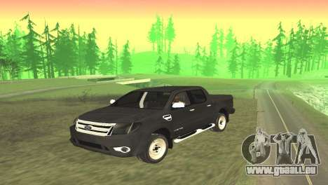Ford Ranger Limited 2014 pour GTA San Andreas sur la vue arrière gauche