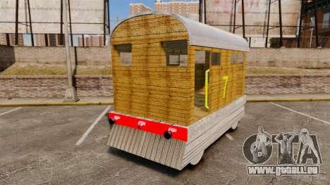 Zug-Toby- für GTA 4 hinten links Ansicht