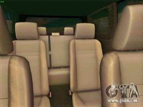 Toyota Alphard pour GTA San Andreas vue intérieure