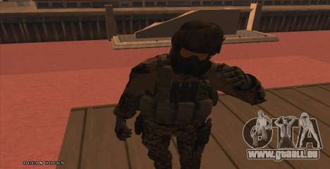 Global Defense Initiative Soldier für GTA San Andreas zweiten Screenshot