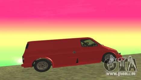 Ford Transit Supervan 3 Personnalisés pour GTA San Andreas vue arrière