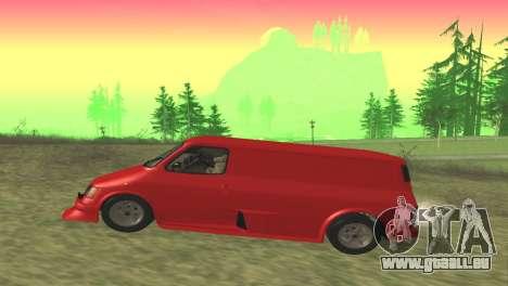 Ford Transit Supervan 3 Personnalisés pour GTA San Andreas laissé vue