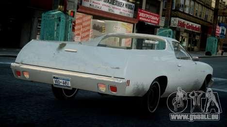 Chevrolet El Camino 1973 Old pour GTA 4 est un droit