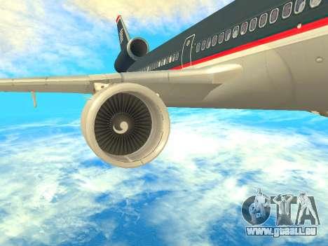 McDonnell Douglas MD-11 US Airways für GTA San Andreas rechten Ansicht