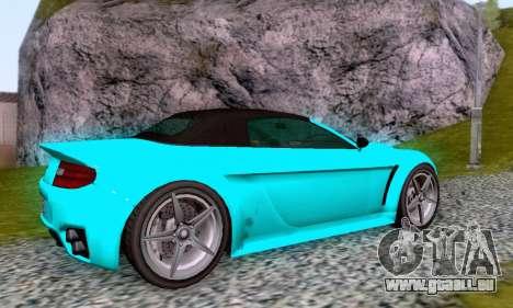 GTA V Rapid GT Cabrio pour GTA San Andreas vue de dessus