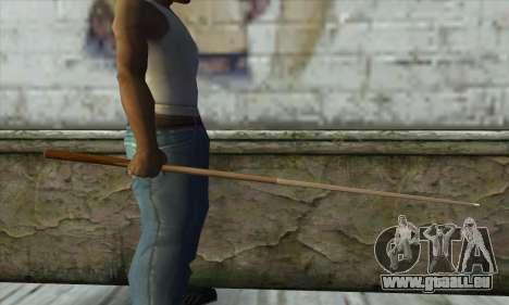 Pool cue pour GTA San Andreas deuxième écran