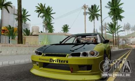 Nissan Silvia S15 Romanian Drifters für GTA San Andreas linke Ansicht