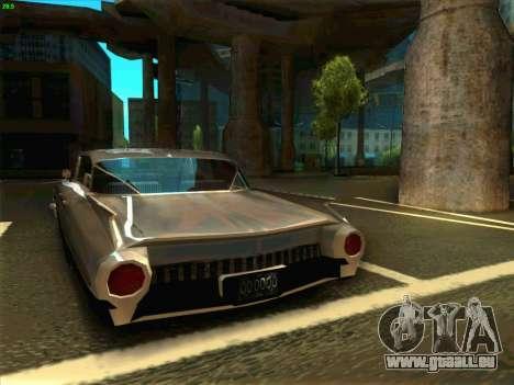Cadillac Stella 1959 für GTA San Andreas zurück linke Ansicht