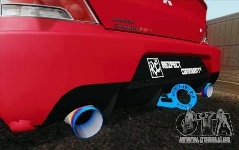 Mitsubishi Lancer MR Edition pour GTA San Andreas sur la vue arrière gauche