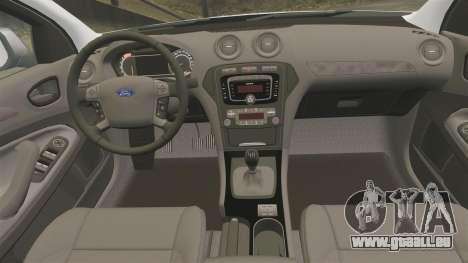Ford Mondeo IV Wagon Police Nationale [ELS] pour GTA 4 est un côté