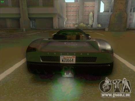 Cheetah Grotti GTA V pour GTA San Andreas vue de droite