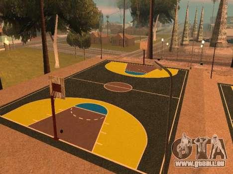 Terrain de basket pour GTA San Andreas troisième écran