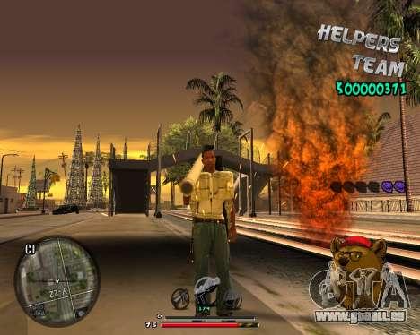 C-HUD Bear pour GTA San Andreas quatrième écran