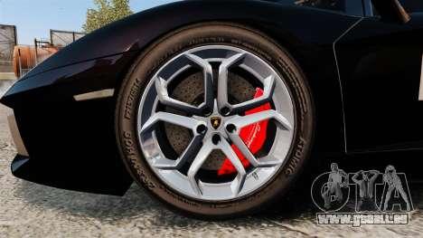 Lamborghini Aventador LP700-4 2012 [EPM] GoPro pour GTA 4 Vue arrière