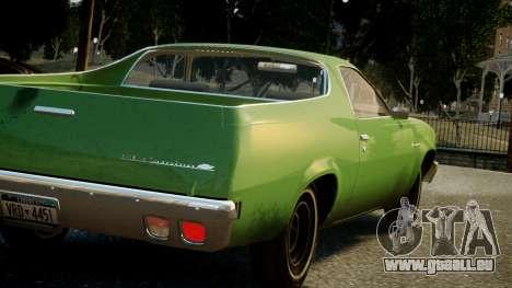 Chevrolet El Camino 1973 Old pour GTA 4 est une vue de dessous
