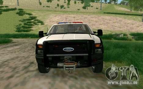 Ford F-250 Bone County Ultimate Response pour GTA San Andreas laissé vue
