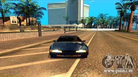 Elegy 4xget pour GTA San Andreas sur la vue arrière gauche