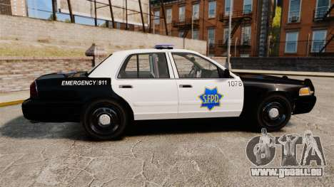 Ford Crown Victoria San Francisco Police [ELS] für GTA 4 linke Ansicht