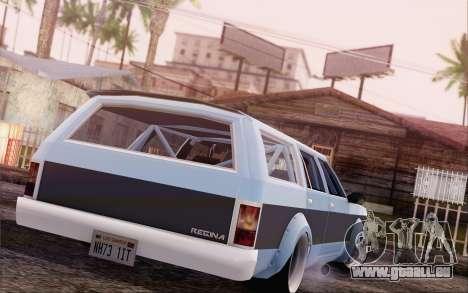 Regina Widebody V8 für GTA San Andreas linke Ansicht