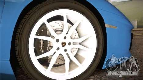 Lamborghini Aventador Roadster pour GTA San Andreas vue de droite