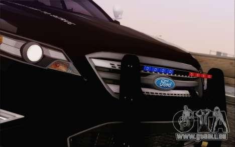 Ford Taurus Police für GTA San Andreas Innenansicht