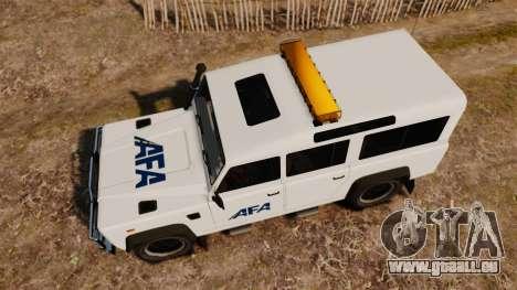 Land Rover Defender AFA [ELS] pour GTA 4 est un droit