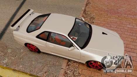 Nissan Skyline GT-R R34 V-Spec II für GTA 4 rechte Ansicht