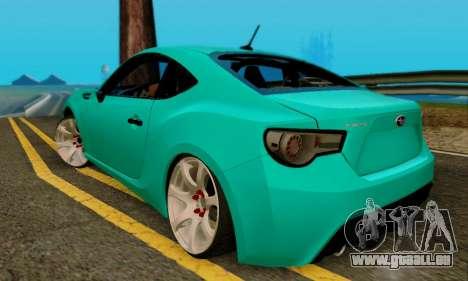 Subaru BRZ für GTA San Andreas Rückansicht