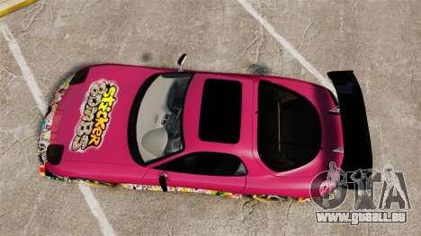 Mazda RX-7 D1 Sticker Bomb pour GTA 4 est un droit